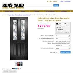 Malton Decorative Glass Composite Door - Choice of 5 Colours - Kens Yard
