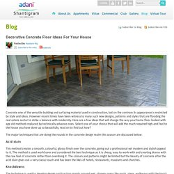 Decorative Concrete Floor Ideas for your House