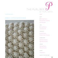 Bobble: 5 Stitch GarterBobble - Knitting Tutorials: Decorative Stitches