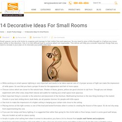 14 Decorative Ideas For Small Rooms
