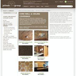 Cork Wall Coverings, Cork Ceiling Coverings - Decorative, Insulative Cork Walls