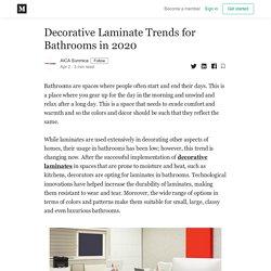 Decorative Laminate Trends for Bathrooms in 2020 - AICA Sunmica - Medium