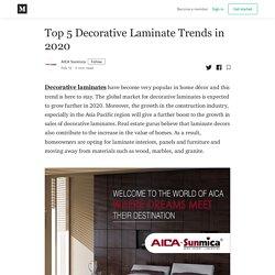 Top 5 Decorative Laminate Trends in 2020 - AICA Sunmica - Medium