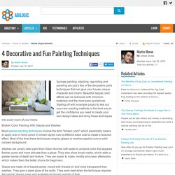 4 Decorative and Fun Painting Techniques