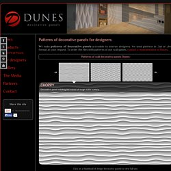 Decorative panels Dunes - Patterns for designers