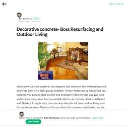 Decorative concrete- Boss Resurfacing and Outdoor Living – Medium