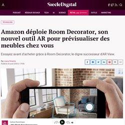 Amazon déploie Room Decorator, son nouvel outil AR pour prévisualiser des meubles chez vous