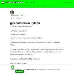 @decorators in Python – Hacker Noon