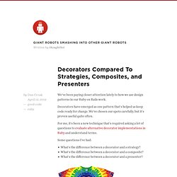 Decorators compared to Strategies, Composites, and Presenters