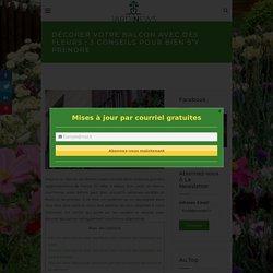 Décorer votre balcon avec des fleurs : 3 conseils pour bien s'y prendre - Jardinews