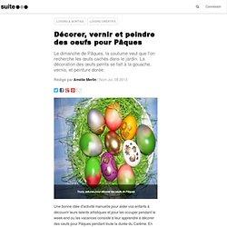 Décorer, vernir et peindre des oeufs pour Pâques: Une activité manuelle pour les enfants