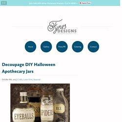 Decoupage DIY Halloween Apothecary Jars - FYNES DESIGNS