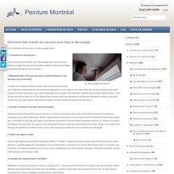 Comment bien manier son pinceau pour faire le découpage - Peinture Montreal