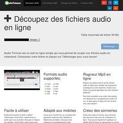 Découpeur Mp3 en ligne - Audio Trimmer