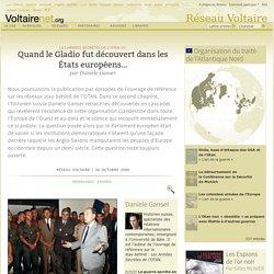 Quand le Gladio fut découvert dans les États européens…, par Daniele Ganser