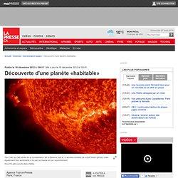 Découverte d'une planète potentiellement «habitable»