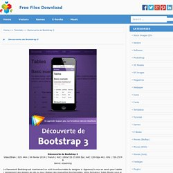 Decouverte de Bootstrap 3