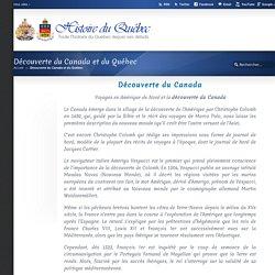 Découverte du Canada et du Québec « Histoire du Québec