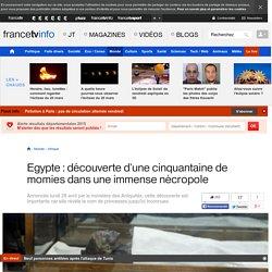Egypte : découverte d'une cinquantaine de momies dans une immense nécropole