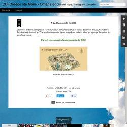 CDI Collège ste Marie - Ornans: A la découverte du CDI