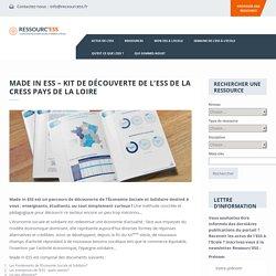 Made in ESS – Kit de découverte de l'ESS de la CRESS Pays de la Loire – Ressourc'ess