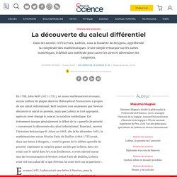 La découverte du calcul différentiel
