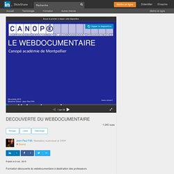 DECOUVERTE DU WEBDOCUMENTAIRE