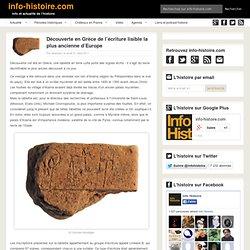Découverte en Grèce de l'écriture lisible la plus ancienne d'Europe