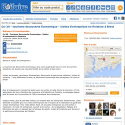 Cci 29 - tourisme decouverte Économique - visites d'entreprises en finistere à Brest (Adresse, photos et téléphone)