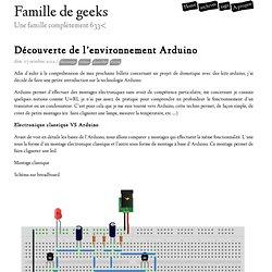 Découverte de l'environnement Arduino