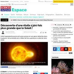 1300 fois le diamètre du Soleil pour l'étoile HR5171