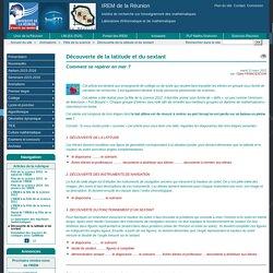 Découverte de la latitude et du sextant - IREM de la Réunion