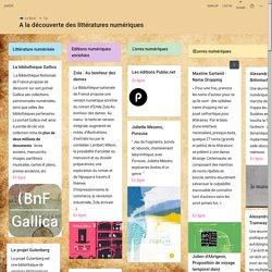 A la découverte des littératures numériques