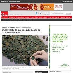 Découverte de 600 kilos de pièces de monnaie romaine