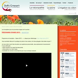 Sophie Campagnie – Naturopathie, jeûne, irrigation du côlon