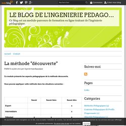 """La méthode """"découverte"""" - LE BLOG DE L'INGENIERIE PEDAGOGIQUE"""