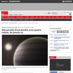 Découverte d'une planète avec quatre soleils, du jamais vu