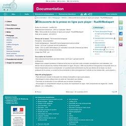 Découverte de la presse en ligne pure player: Rue89/Mediapart