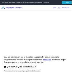 Découverte du reactive programming : ReactiveX