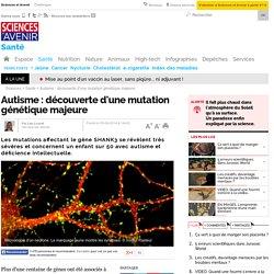 Autisme et déficience intellectuelle : découverte d'une mutation génétique majeure