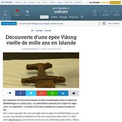 Découverte d'une épée Viking vieille de mille ans en Islande