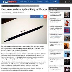 Découverte d'une épée viking millénaire