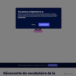 Découverte du vocabulaire de la géographie (FLE, collège) by Bénédicte Tratnjek on Genially