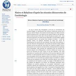 Ninive et Babylone d'après les récentes découvertes de l'archéologie - Wikisource - Aurora