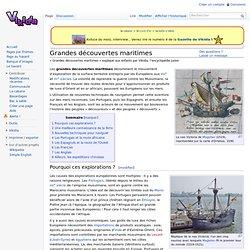 Grandes découvertes maritimes