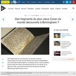 Des fragments du plus vieux Coran du monde découverts à Birmingham ?