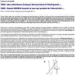 Cephes - Réfrigération passive par rayonnement, article