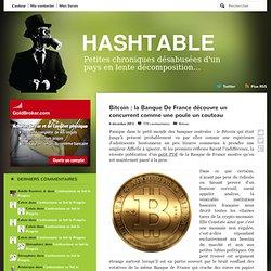 Bitcoin : la Banque De France découvre un concurrent comme une poule un couteau