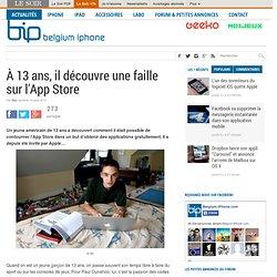 À 13 ans, il découvre une faille sur l'App Store