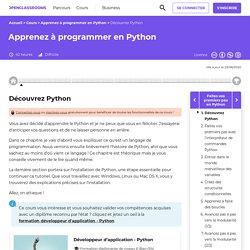 Découvrez Python - Apprenez à programmer en Python
